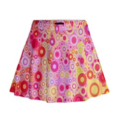 Sweet Pink Bubbles Mini Flare Skirt by KirstenStar