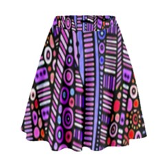 Stained Glass Tribal Pattern High Waist Skirt by KirstenStar
