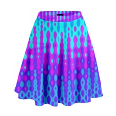 Melting Blues And Pinks High Waist Skirt by KirstenStar