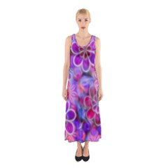 Pretty Floral Painting Sleeveless Maxi Dress by KirstenStar