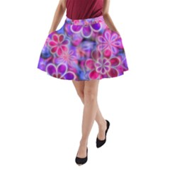 Pretty Floral Painting A-Line Pocket Skirt by KirstenStar