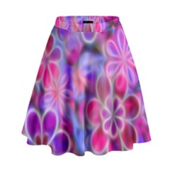 Pretty Floral Painting High Waist Skirt by KirstenStar