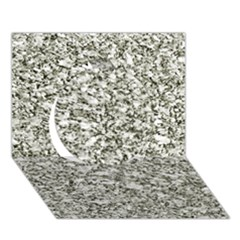 Black And White Abstract Texture Circle 3d Greeting Card (7x5)