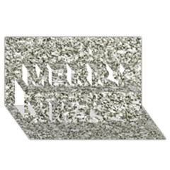 Black And White Abstract Texture Merry Xmas 3d Greeting Card (8x4)  by dflcprints