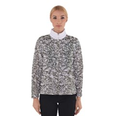 Black And White Abstract Texture Print Winterwear by dflcprintsclothing