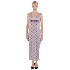 Anita Tuva Pattern Pink Purple Teal Peach Fitted Maxi Dress by CircusValleyMall