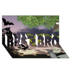 Happy Halloween Night Witch Flying Best Bro 3d Greeting Card (8x4)  by canvasngiftshop