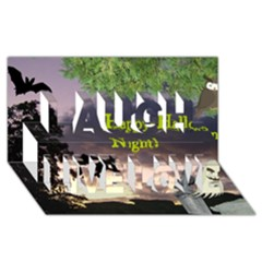 Happy Halloween Night Witch Flying Laugh Live Love 3d Greeting Card (8x4)  by canvasngiftshop