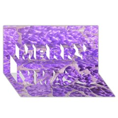 Festive Chic Purple Stone Glitter  Merry Xmas 3d Greeting Card (8x4)  by yoursparklingshop