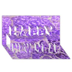 Festive Chic Purple Stone Glitter  Happy New Year 3d Greeting Card (8x4)  by yoursparklingshop