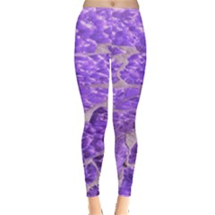 Festive Chic Purple Stone Glitter  Leggings  by yoursparklingshop