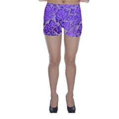 Festive Chic Purple Stone Glitter  Skinny Shorts by yoursparklingshop