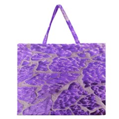 Festive Chic Purple Stone Glitter  Zipper Large Tote Bag by yoursparklingshop