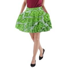 Festive Chic Green Glitter Shiny Glamour Sparkles A Line Pocket Skirt by yoursparklingshop