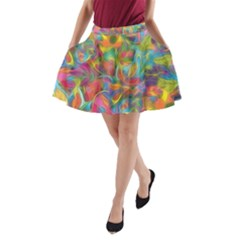 Colorful Autumn A-Line Pocket Skirt by KirstenStar