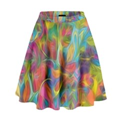 Colorful Autumn High Waist Skirt by KirstenStar
