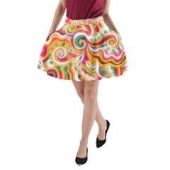 Sunshine Swirls A Line Pocket Skirt