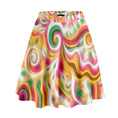 Sunshine Swirls High Waist Skirt by KirstenStar