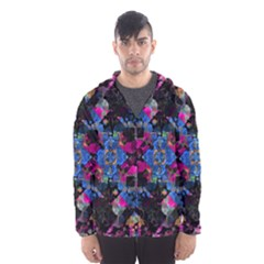 Stylized Geometric Floral Ornate Hooded Wind Breaker (men) by dflcprintsclothing
