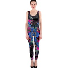 Stylized Geometric Floral Ornate Onepiece Catsuit by dflcprintsclothing