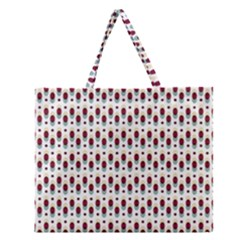 Geometric Retro Patterns Zipper Large Tote Bag by TastefulDesigns