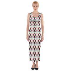 Geometric Retro Patterns Fitted Maxi Dress by TastefulDesigns
