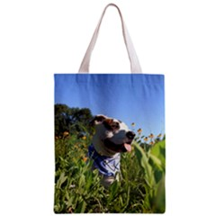 Pit Bull T Bone Zipper Classic Tote Bag by ButThePitBull