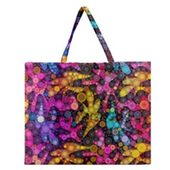 Midnight Dancers Zipper Large Tote Bag