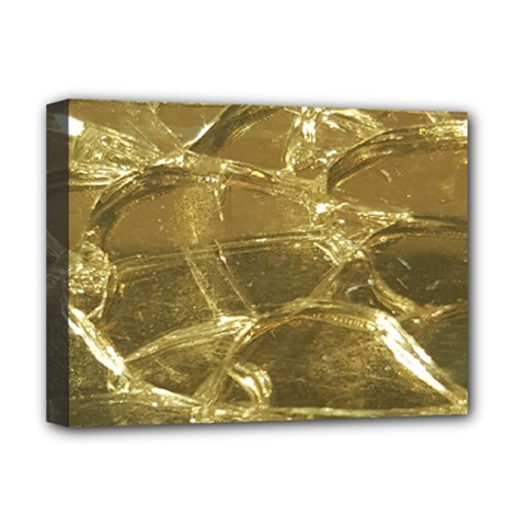 Gold Bar Golden Chic Festive Sparkling Gold  Deluxe Canvas 16  X 12   by yoursparklingshop