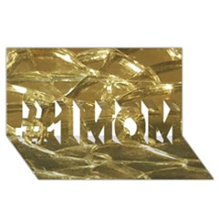 Gold Bar Golden Chic Festive Sparkling Gold  #1 Mom 3d Greeting Cards (8x4)