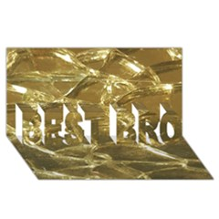 Gold Bar Golden Chic Festive Sparkling Gold  Best Bro 3d Greeting Card (8x4)  by yoursparklingshop