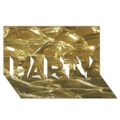 Gold Bar Golden Chic Festive Sparkling Gold  Party 3d Greeting Card (8x4)