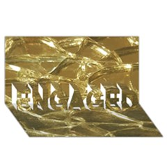 Gold Bar Golden Chic Festive Sparkling Gold  Engaged 3d Greeting Card (8x4)  by yoursparklingshop