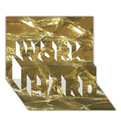 Gold Bar Golden Chic Festive Sparkling Gold  Work Hard 3d Greeting Card (7x5)