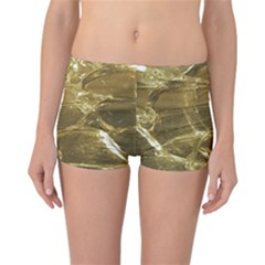 Gold Bar Golden Chic Festive Sparkling Gold  Reversible Boyleg Bikini Bottoms by yoursparklingshop