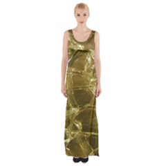 Gold Bar Golden Chic Festive Sparkling Gold  Maxi Thigh Split Dress by yoursparklingshop