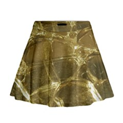 Gold Bar Golden Chic Festive Sparkling Gold  Mini Flare Skirt by yoursparklingshop