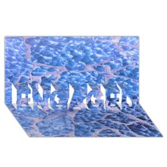 Festive Chic Light Blue Glitter Shiny Glamour Sparkles Engaged 3d Greeting Card (8x4)