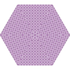Lilac Purple Quatrefoil Pattern Mini Folding Umbrella by Zandiepants