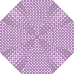 Lilac Purple Quatrefoil Pattern Hook Handle Umbrella (small) by Zandiepants