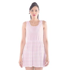 Soft Pink Small Hearts Pattern Scoop Neck Skater Dress by CircusValleyMall