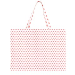 Soft Pink Small Hearts Pattern Large Tote Bag by CircusValleyMall