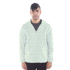 Spring Green Small Hearts Pattern Hooded Wind Breaker (men) by CircusValleyMall