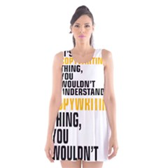It a Copywriting Thing, you wouldn t understand Scoop Neck Skater Dress by flamingarts