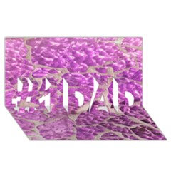 Festive Chic Pink Glitter Stone #1 Dad 3d Greeting Card (8x4)  by yoursparklingshop