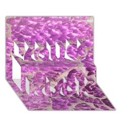 Festive Chic Pink Glitter Stone You Rock 3d Greeting Card (7x5)  by yoursparklingshop