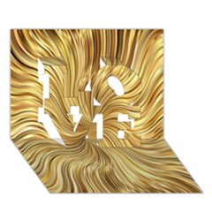 Chic Festive Elegant Gold Stripes Love 3d Greeting Card (7x5)