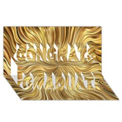 Chic Festive Elegant Gold Stripes Congrats Graduate 3d Greeting Card (8x4)  by yoursparklingshop