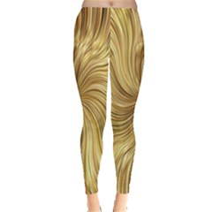 Chic Festive Elegant Gold Stripes Leggings  by yoursparklingshop