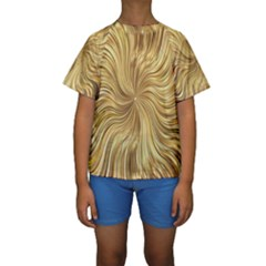 Chic Festive Elegant Gold Stripes Kid s Short Sleeve Swimwear by yoursparklingshop